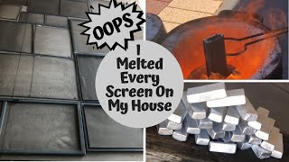 20+ Kilo Melt - Oops I Melted Down Every Screen On My House🤫 - Huge Ingot Haul - Melting Aluminium