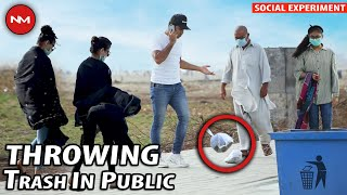 Throwing Trash in Public | Social Experiment | Nevermind