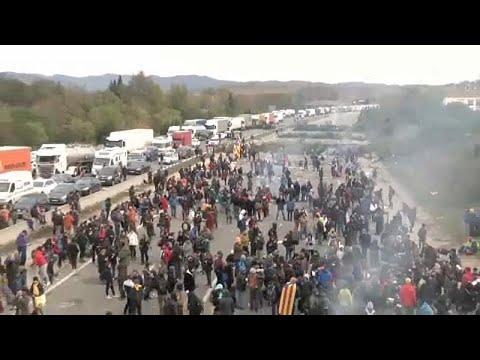 Trânsito restabelecido entre a Catalunha e França
