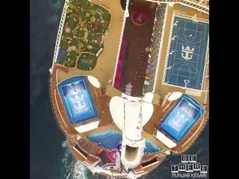 Five stars ship in ocean. All facilities available like hotel management, games and sports and more
