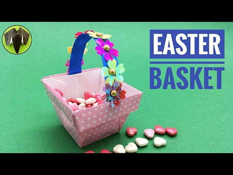 how to make a paper easter basket youtube