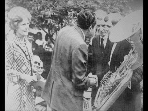 University of Minnesota Concert Band Ensemble White House Rose Garden Concert - May 23, 1969