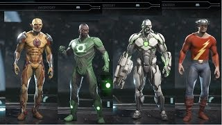 Injustice 2 All Skins & Legendaries Showcase