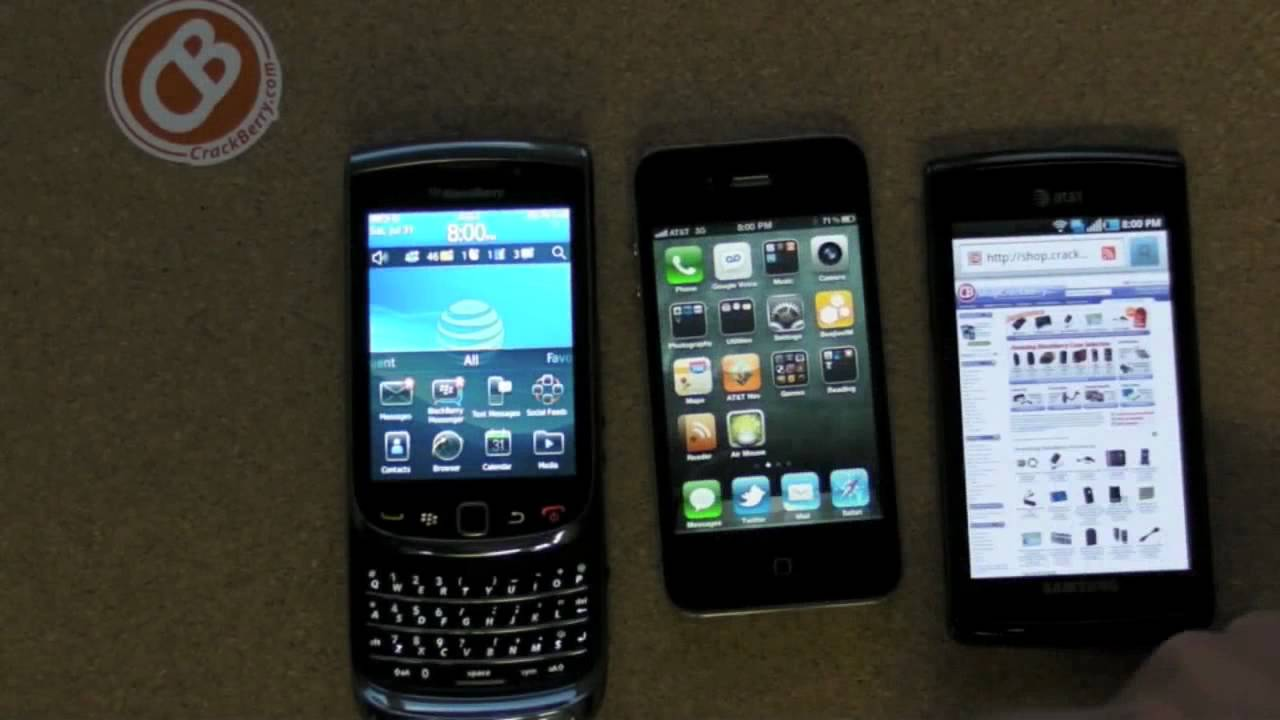 Comparison: New BlackBerry WebKit Browser vs  the Competition