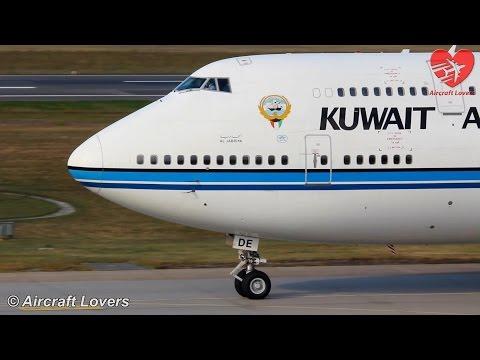 Government Flight - Kuwait Airways Boeing 747 [9K-ADE] Takeoff @ Germany, Berlin-Tegel 19.09.14