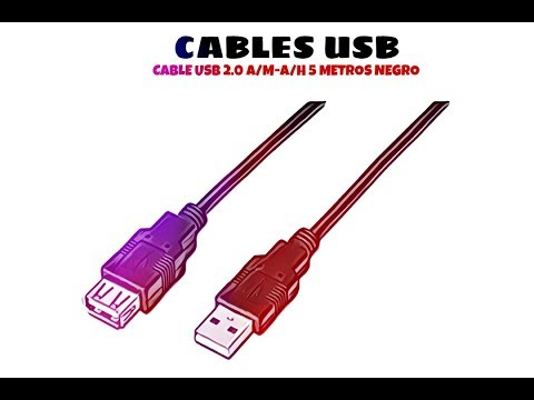 Video de Cable USB 2.0 A/M-A/H 5 M Negro