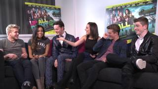 UP ALL NIGHT cast interview PART 1. (Tyger Drew-Honey reveals his Earthquake terror!)