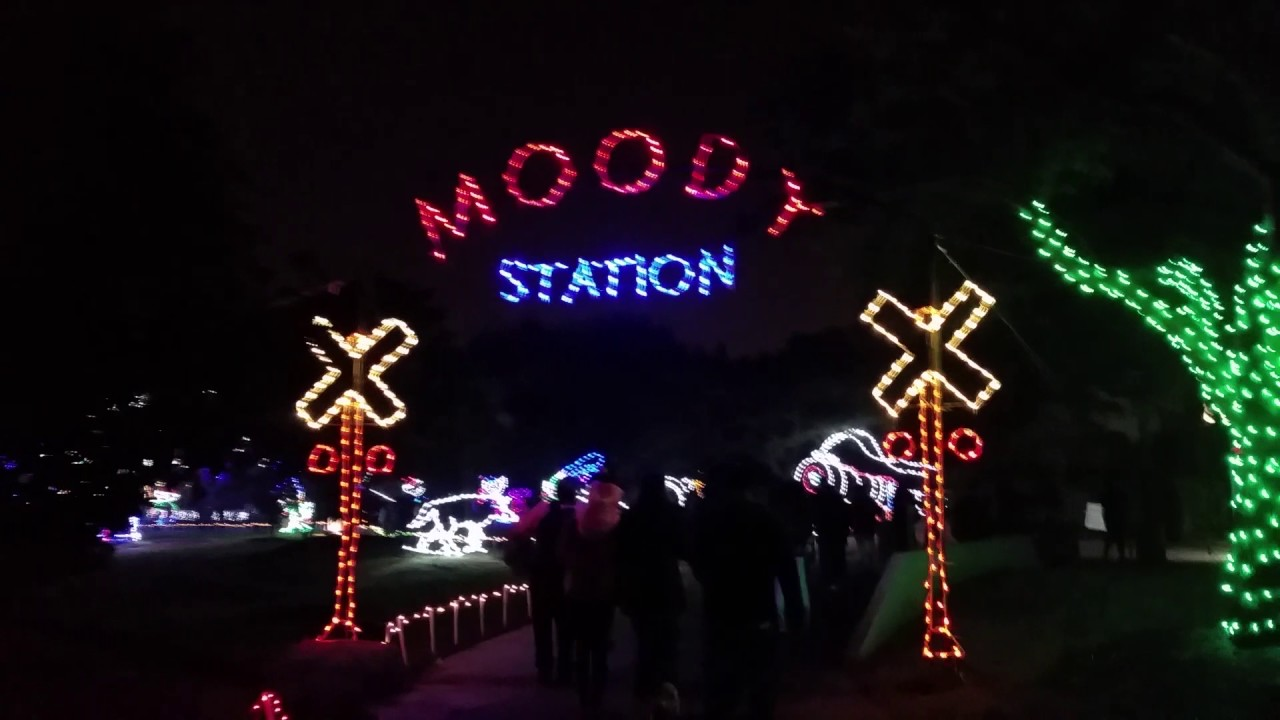 Festival Of Lights At Moody Gardens Galveston 24 Dec 2016 Youtube