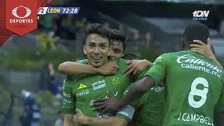 Gol de Ángel Mena | América 0 - 2 León | Clausura 2019 - J6 | Televisa Deportes