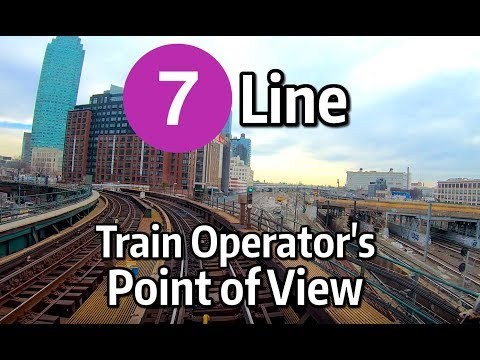 ⁴ᴷ⁶⁰ NYC Subway Train Operator's Point of View - The Queens-Bound 7 Local Line