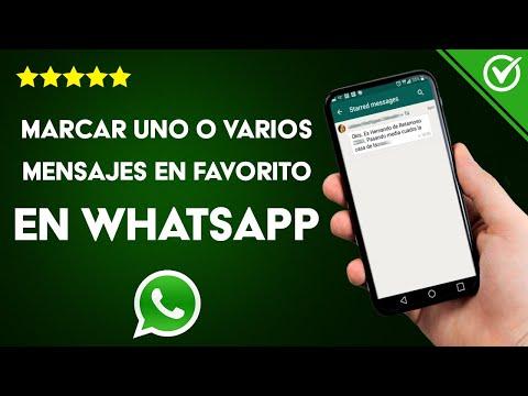 Cómo Marcar uno o Varios Mensajes de WhatsApp como Favorito en Android o iPhone