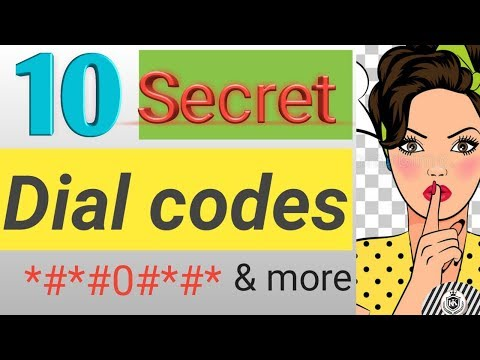 10 Secret Dial codes| Amazing |cool| android