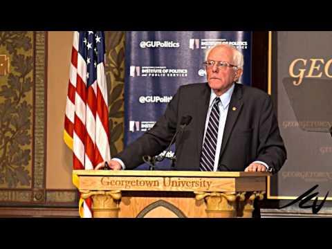 Bernie Sanders a Social Democrat speaks at Georgetown University