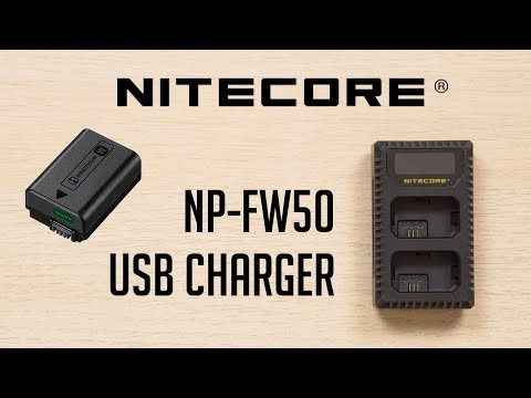 Sony NP-FW50 USB Battery Charger - Nitecore USN1 | Unboxing & Review