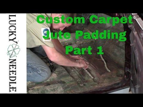 Upholstery Basics - Installing Jute Carpet Padding  Step 1