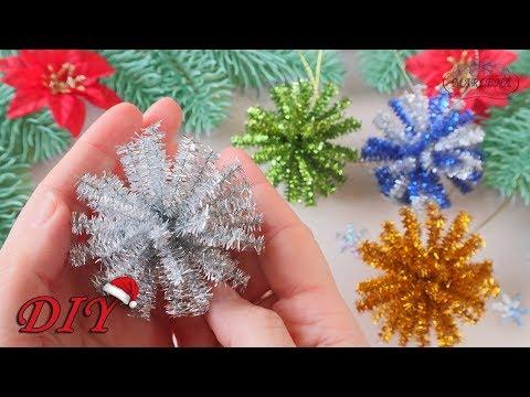 🎄 Новогодняя игрушка ЗА 1 МИНУТУ 🎄 МК/DIY Christmas decorations