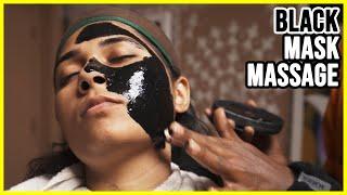 BLACK MASK INDIAN GIRL FACE MASSAGE MASTER CRACKER ASMR sleep