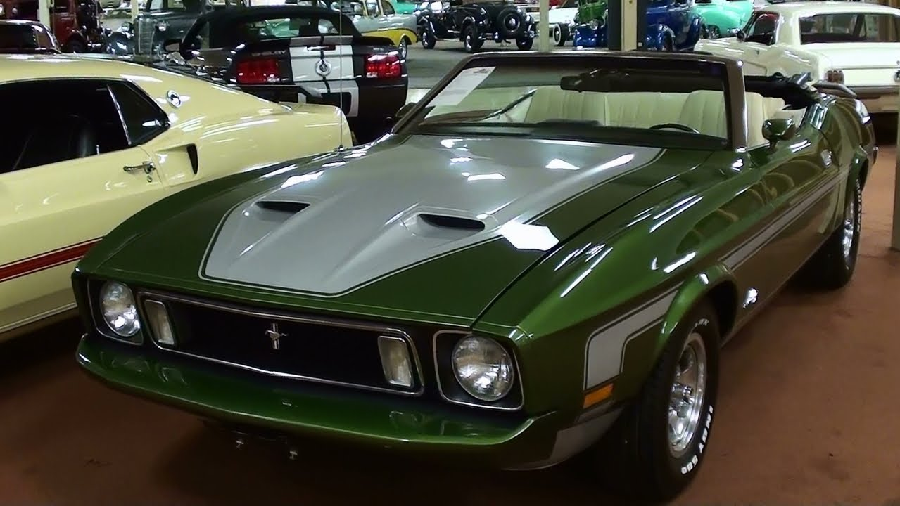 Rare 1973 Ford Mustang Convertible 351 Cj 4 Bbl Four Speed
