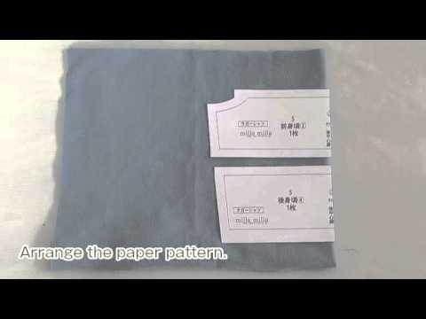 Rugby Jersey / Polo Shirt sewing Movie 02 [hand made dog wear]