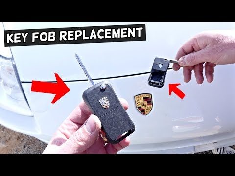 HOW TO REPLACE PORSCHE KEY FOB DEMONSTRATED ON CAYENNE