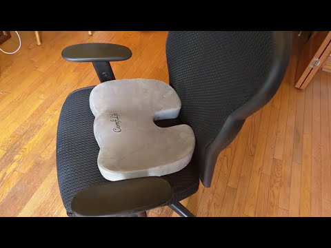 REVIEW ComfiLife Coccyx Orthopedic Memory Foam Office Chair and Car Seat - 5 star rated!