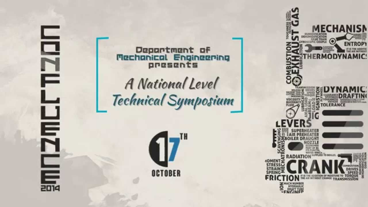 Poster design for symposium - Confluence 2014 Motion Poster Mechanical National Level Technical Symposium Bsau