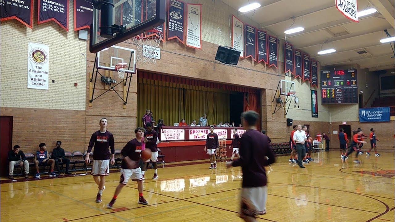 Varsity Basketball Brother Rice Vs St Rita Youtube