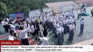 Selesai LTUB Tingkat prov.Banten SMKN 1 Cipanas Memeriahkan letihnya dengan bergoyang