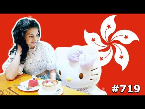 CUTE DATE HELLO KITTY CAFE HONG KONG DAY 719 | TRAVEL VLOG IV