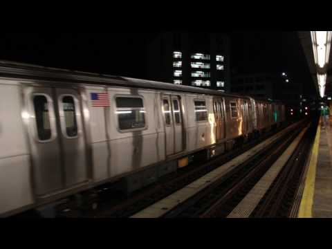 MTA NYC Subway Kawasaki Heavy Industries R160B train (not in service) at 39th Ave