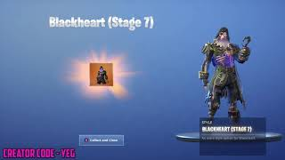 'NEW' UNLOCKING BLACKHEART STAGE 7 on Fortnite Battle Royale Saison 8