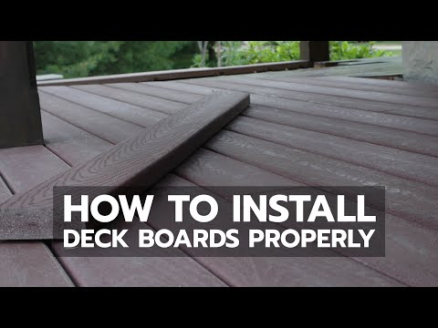 How To Install Deck Boards Properly Youtube