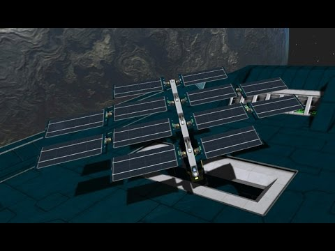 Space Engineers solar panel automation
