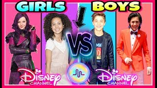 Famous Girls VS Boys Musical.ly Battle | Top Disney Channel Stars New Musically 2017