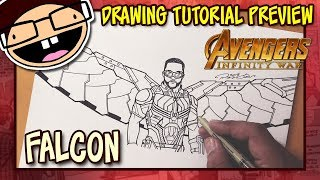[PREVIEW] How to Draw FALCON (Avengers: Infinity War) | Drawing Tutorial Time Lapse