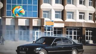 Дрифт на площади в Кокшетау
