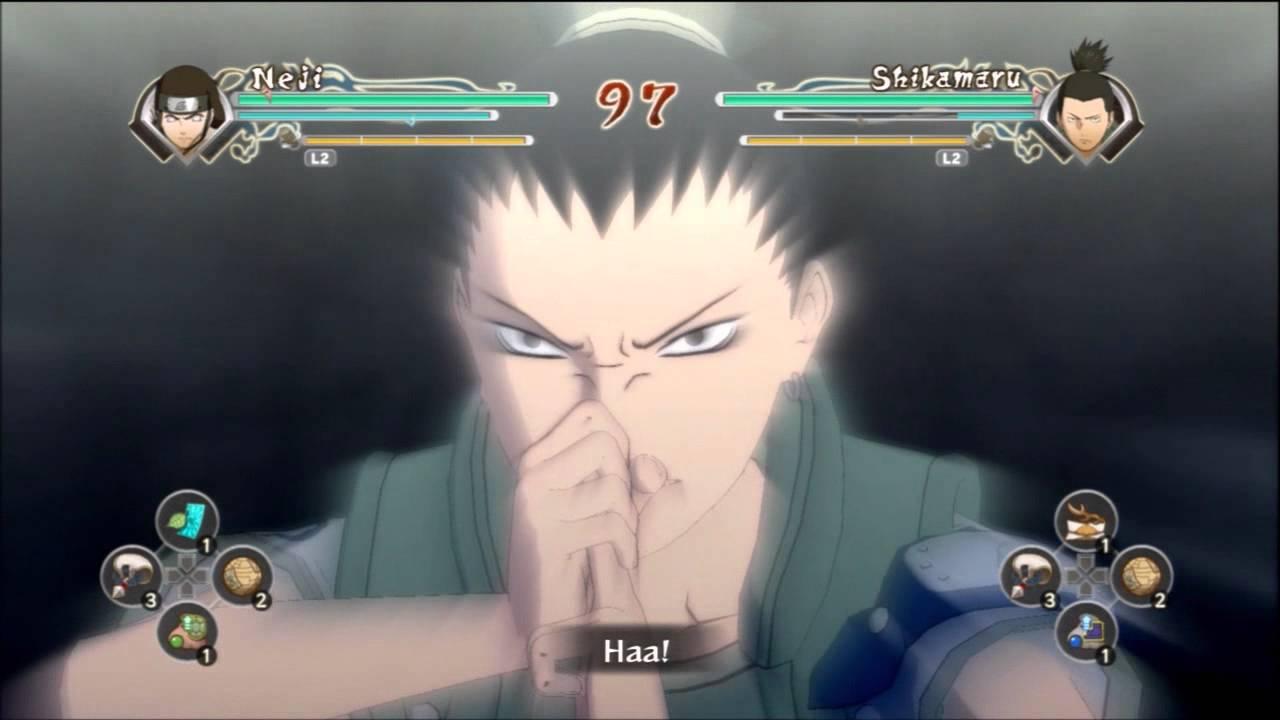 Naruto Generations Young Shikamaru Shadow Strangle Jutsu ...