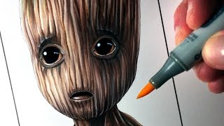Let's Draw BABY GROOT from GUARDIANS OF THE GALAXY VOL. 2 - FAN ART FRIDAY