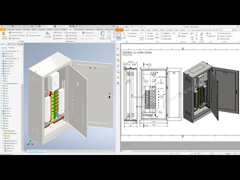 Autodesk Inventor 2021 Tutorial E11 - Electrical cabinet #1