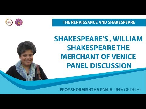 1 4 Shakespeare's , William Shakespeare The Merchant of Venice Panel Discussion Final