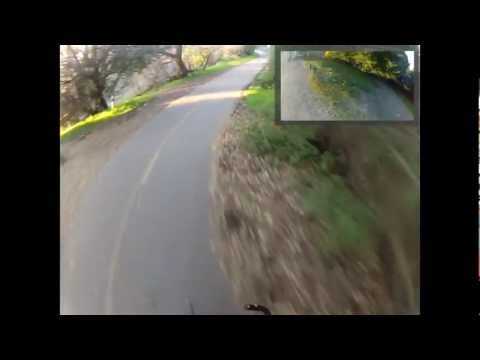 Google Glass Biking with Quad Copter Vision