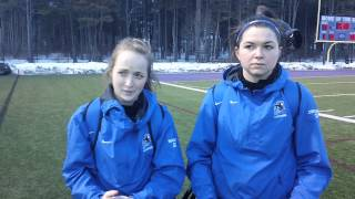 Post game interview with Cassie Diplock and  Lauren Bailey