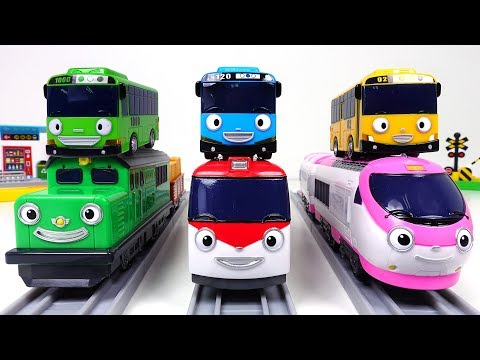 Chung-puff! Titipo Titipo! Train station crossing play with Tayo, Diesel, Genie! – PinkyPopTOY