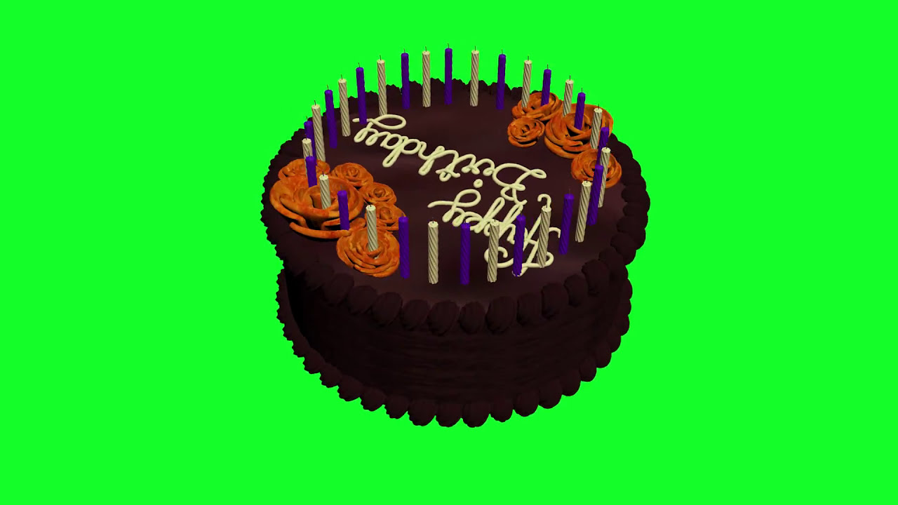 Birthday Greetings Happy Birthday Animation Green Screen