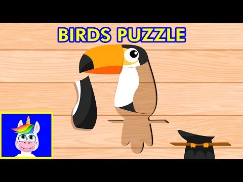 BIRDS PUZZLE GAME For Toddlers & Kids - Puzzle Apps For Children, Kindergarten
