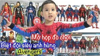 Mở hộp đồ chơi siêu nhân | Biệt đội siêu anh hùng Avangers