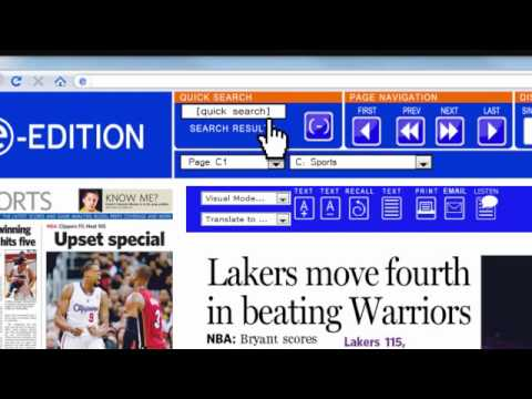Los Angeles Daily News e-Edition Tutorial