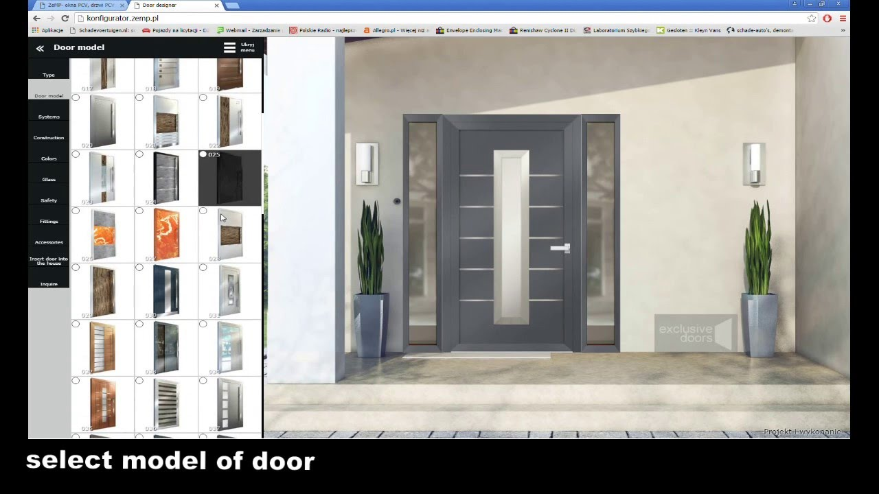 Designer Front Doors contemporary exterior doors tps100 front door with lpu40 m panel georgian garage door maybe Design Your Front Door Online Exclusive Doors Door Designer