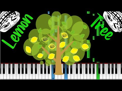 How to play Fools garden-Lemon tree (piano tutorial) cover