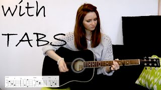 Avril Lavigne - Wish you were here Guitar Cover w/Tabs on screen